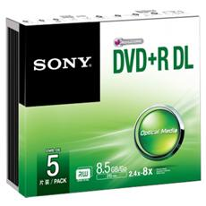 Dvd+r Double Layer 8 5 Gb Sp 5 Pz