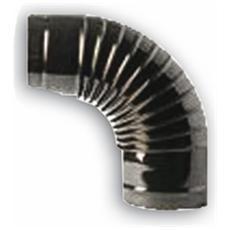 Gomito a 90° per Tubi Stufa in lamiera porcellanata Ø15 cm colore Nero