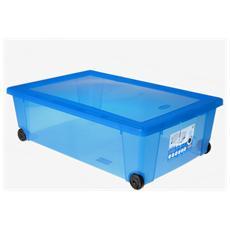 Scatola Rollbox 59x39x18.5 Blu Cobalto Sistemazione Casa