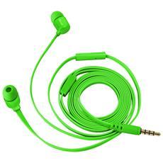 Duga Cuffie in-ear per tablet e smartphone - neon green