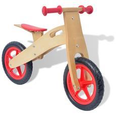 Bicicletta Senza Pedali Rossa In Legno
