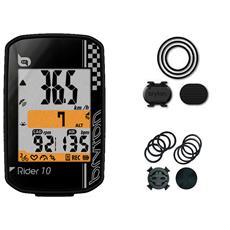 Ciclocomputer Rider 10 C Gps Bike Computer Con Sensore Di Cadenza E Staffe Colore Nero