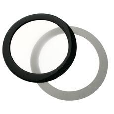Round Dust Filter 92mm - Nero / Bianco