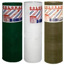 Rete PVC verde maglia 10x10 mm rotolo altezza 100 cm lunghezza 50 metri