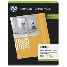 Cartuccia Ink Originale Ciano Magenta Giallo per Officejet 6950 Capacità 825 Pagine