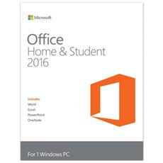 Office 2016 Home And Student Full Retail 1 Pc - Product Key Card