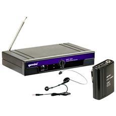 Radiomicrofono Vhf-1001 Hl Trasmettitore Dinamico Ad Archetto + Lavalier