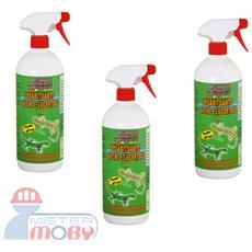 Repellente disabituante allontana anti gechi e rettili naturale spray 3x 1 lt