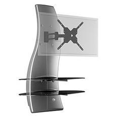 "Mobile TV Ghost Design 2000 Rotation LCD - PLASMA 32"" - 63"" Portata massima TV 30 kg Colore Argento"