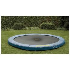 Trampolino tappeto elastico rete salti jumpod in-ground 240 cm