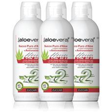 Succo Puro Aloe Vera Con Antiossidanti - 3 Bottiglie 1lt