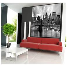 Quadro Moderno Wall 160x160cm 4 Tele 80x80cm Citta' Manhattan Black