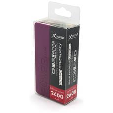 Colour Line Black 2.600, Polimeri di litio (LiPo) , USB, Nero, Micro-USB, Plastica, Universale