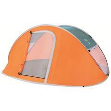 Tenda arancione per 4 adulti