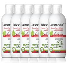 Succo Puro Aloe Vera Con Antiossidanti - 6 Bottiglie Da 1 Lt