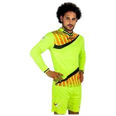 Kit Camp Nou Verde Fluo / nero - Completo Portiere Adulto Taglia Xl