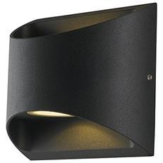 LED-W-VEYRON NERO - Applique Nera Flusso di Luce Superiore e Inferiore Lampada Led 14 watt Luce Naturale