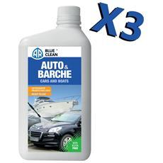 Detergente Auto / barche 1l, Kit Da 3 Latte Rimuove Sporcizia Senza Lasciare Aloni