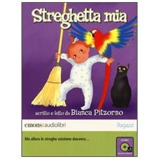 Streghetta mia letto da Bianca Pitzorno. Audiolibro. CD Audio formato MP3. Ediz. integrale