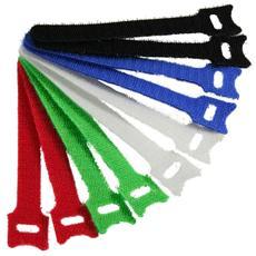 fascette velcro per chiusure a strappo 12x125mm, vari colori, 10pz