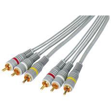1m 3x RCA - 3x RCA M / M, 1m, 3 x RCA, 3 x RCA