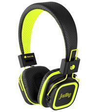 Artica Jelly, Stereofonico, 3.5mm / USB, Padiglione auricolare, Nero, Giallo, Bluetooth, Circumaurale