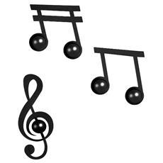 Set Ganci Appendiabiti Design Note Musicali