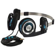 Cuffie con Microfono Cablato Porta Pro Colore Nero Blu Argento