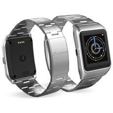 "Smartwatch TechWatchONE Display 1.54"" Bluetooth con Conturino in Metallo Argento – Italia"