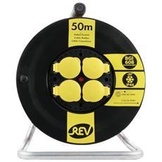 Avvolgicavo BGI 608 50m IP44 nero giallo