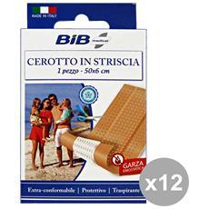 Set 12 Cerotti Striscia 50x6 Cm. Cerotti E Cura Del Corpo