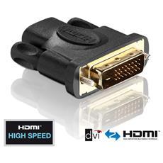 PureInstall PI010, DVI-D, HDMI, Maschio / femmina, Nero, Oro, 1920 x 1200 Pixels