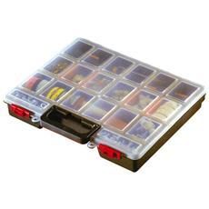 Cassetta portaminuterie in plastica 16 scomparti cm 38x33xH 6