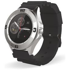 "Smartwatch TechWatchONE Round Display 1.22"" Bluetooth con Conturino in Gomma Nero – Europa"