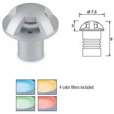 Leds C4 Illuminazione Esterna Gea Ii Alluminio Anodizzato Rotonda Built-in Con Diffusore In Policarbonato Trasparente