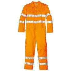 Tuta Ad Alta Visibilità In Poliestere Colore Arancio Taglia 44