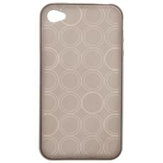 Custodia Cover Case In Tpu Silver Per Iphone 4 4S