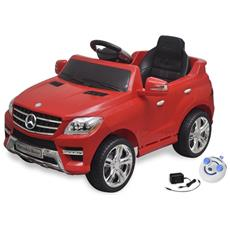 Macchina Cavalcabile Mercedes Benz Ml350 Rossa 6v Con Telecomando