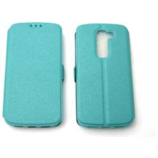 Lg D620 G2 Mini Custodia Bag Case Libro Book Pocket Colore Celeste