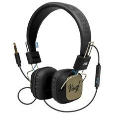 Cuffie DJ VYNIL a filo stero con tasto risposta / fine chiamata e microfono - Blu