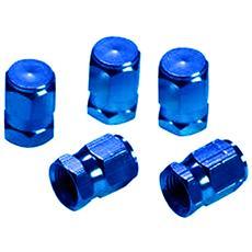 Tappi Coprivalvola Alluminio Blu Universale Auto Moto Tuning Ruote Ricambio 649