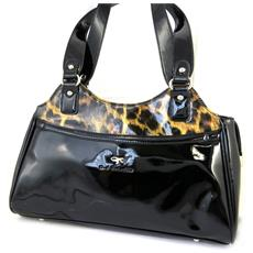 bag designer '' marrone leopardo vernice - [ m2537]