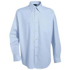 Camicia A Manica Lunga Con Taschino In Cotone Colore Azzurro Taglia S