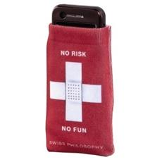 Mobile Phone Holster, no risk, no fun Rosso
