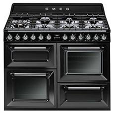 smeg tr4110bl1 cucina a gas con 7 zone cottura con forno elettrico classe a dimensioni 110 x 60 cm colore nero
