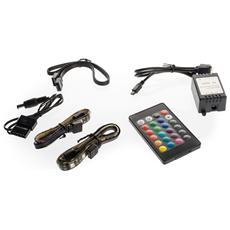2 Strisce LED Multicolor da 30 cm (18 LED) con Telecomando Controller e Prolunga