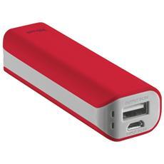 Primo Powerbank Caricatore portatile 2200 mAh - Rosso