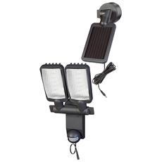 Spot LED ad energia solare SOL 2x4 IP 44 con segnalatore di movimento ad infrarossi 8xLED 0 5W 300lm Lung cavo 4 75m Colore Antracite