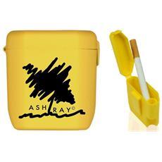d194b1a9a4 ASHTRAY - Posacenere Tascabile Ashtray Porta Mozziconi Porta Cicche E  Spegni Cicche. Con Coperchio E Gancio Per Cintura. Completamente  Riciclabile.