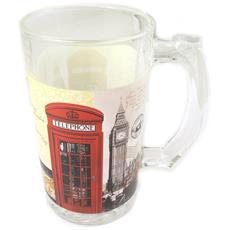 tankard a bere birra 'so british' bianco rosso - 225x9 cm - [ p0323]